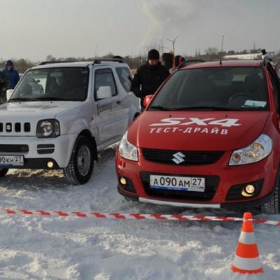 Тест новых моделей автомобилей Suzuki